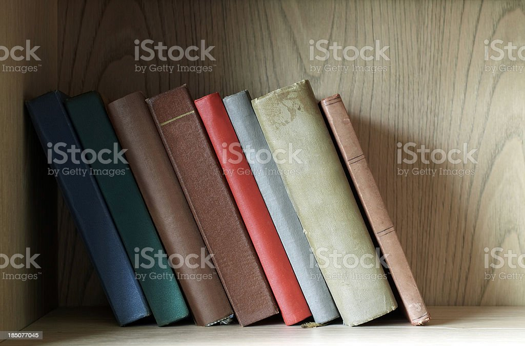 Old books on the shelf royalty-free stock photo