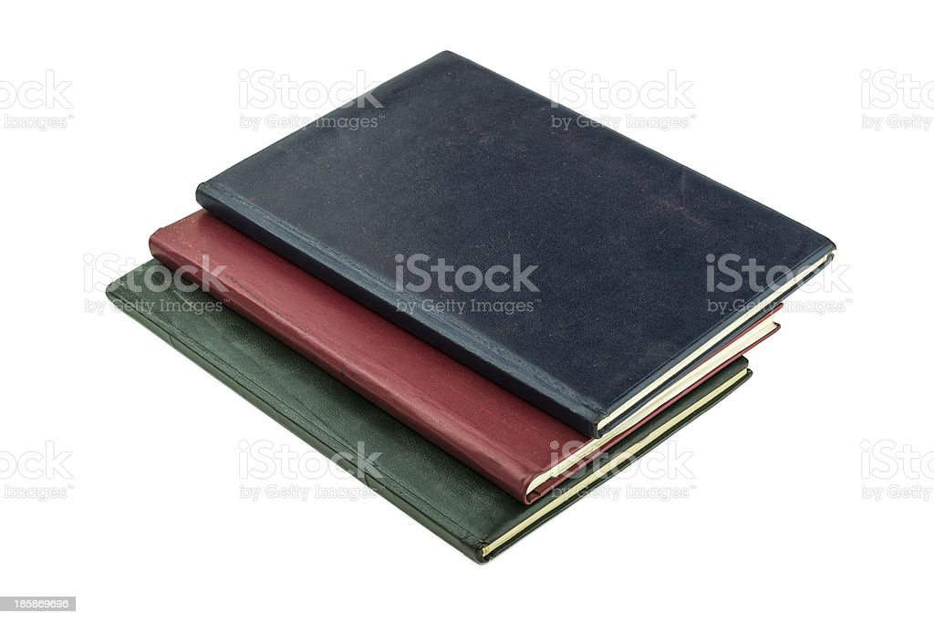 Old Books on White Background royalty-free stock photo