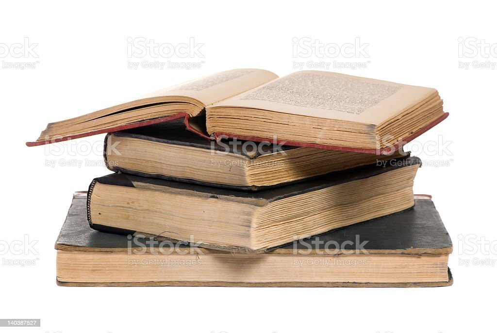Old books open 5 royalty-free stock photo