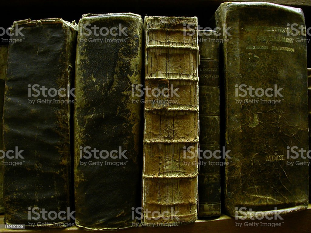Old Books (ca 16-17 century) royalty-free stock photo