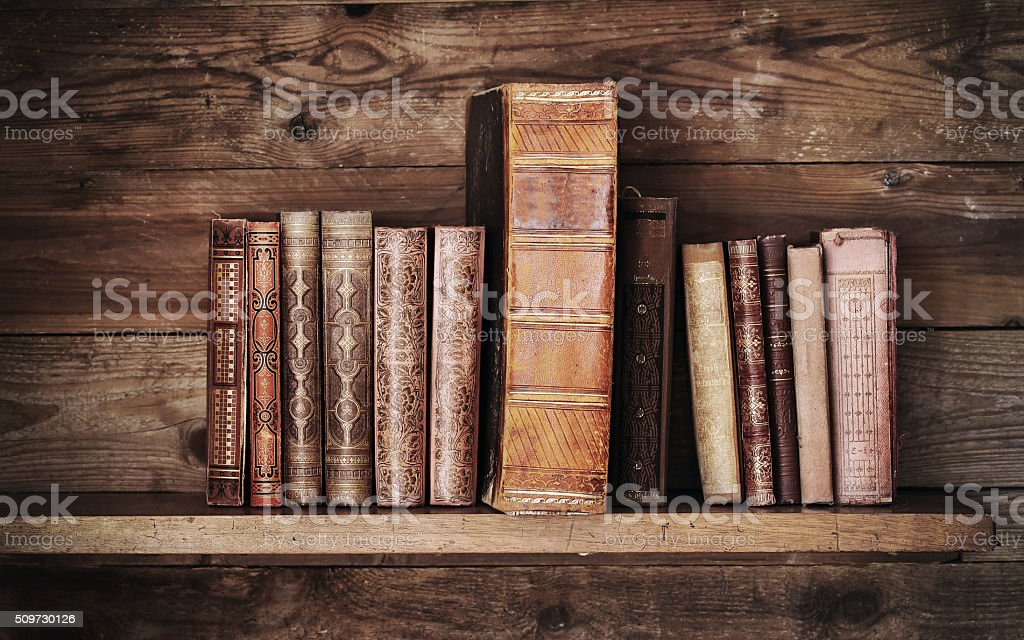 old books. stock photo