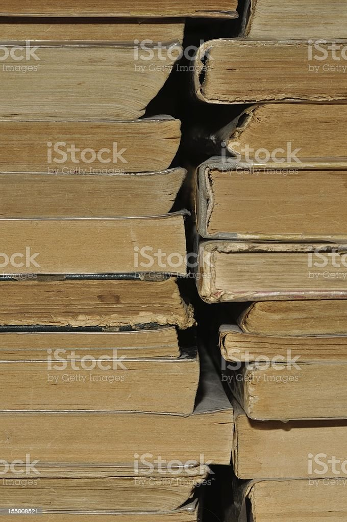 Old books stack royalty-free stock photo