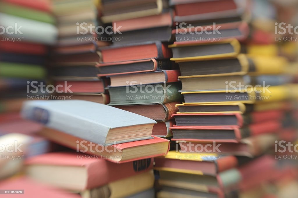 Old Books Stacked In Piles royalty-free stock photo