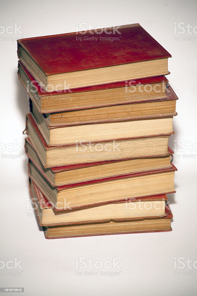 Old Books Stacked royalty-free stock photo