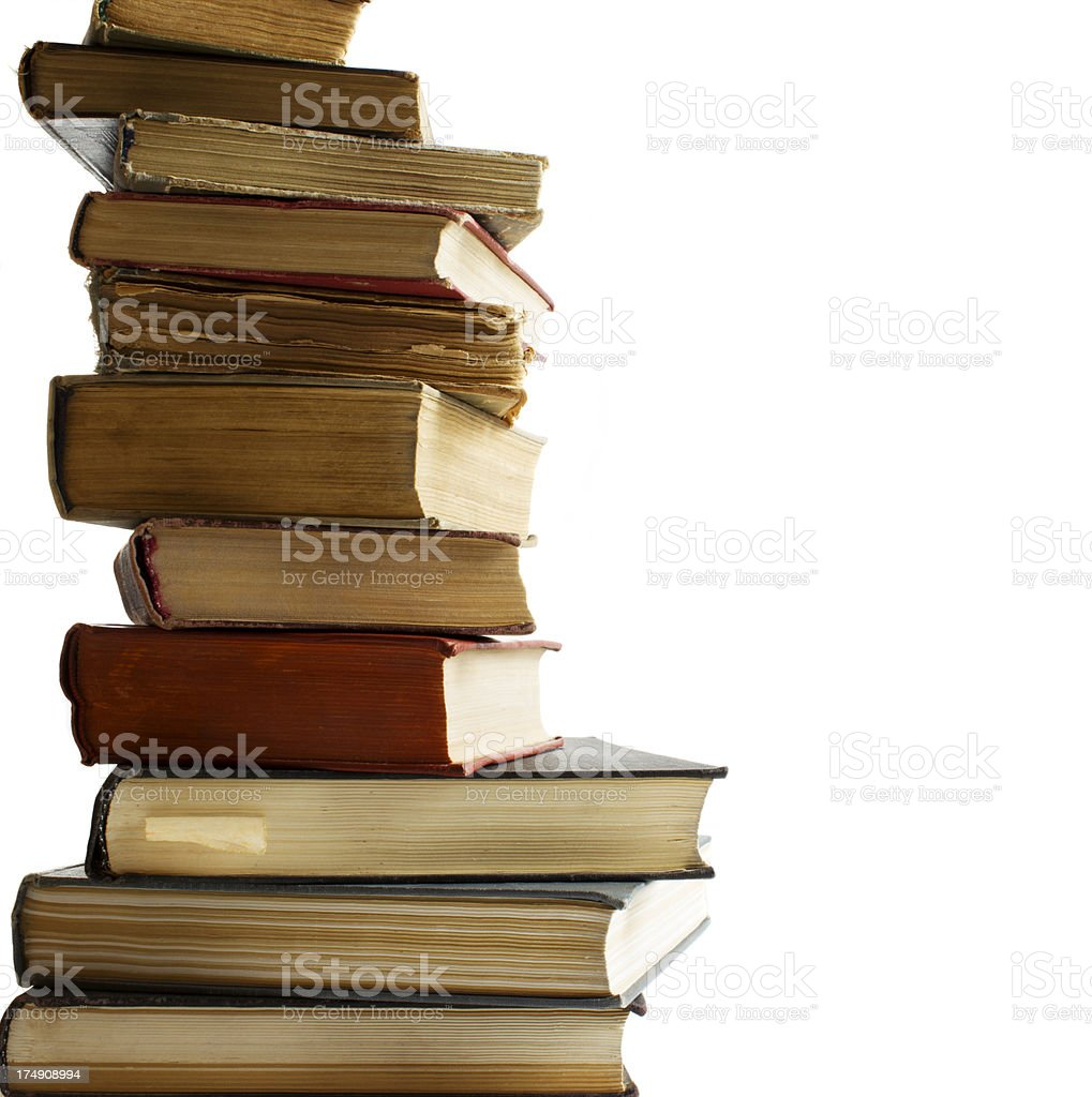 Old books stacking royalty-free stock photo