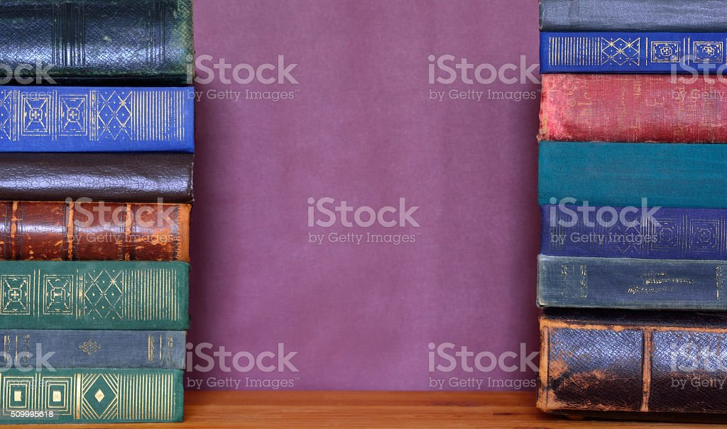 Old Books Template stock photo