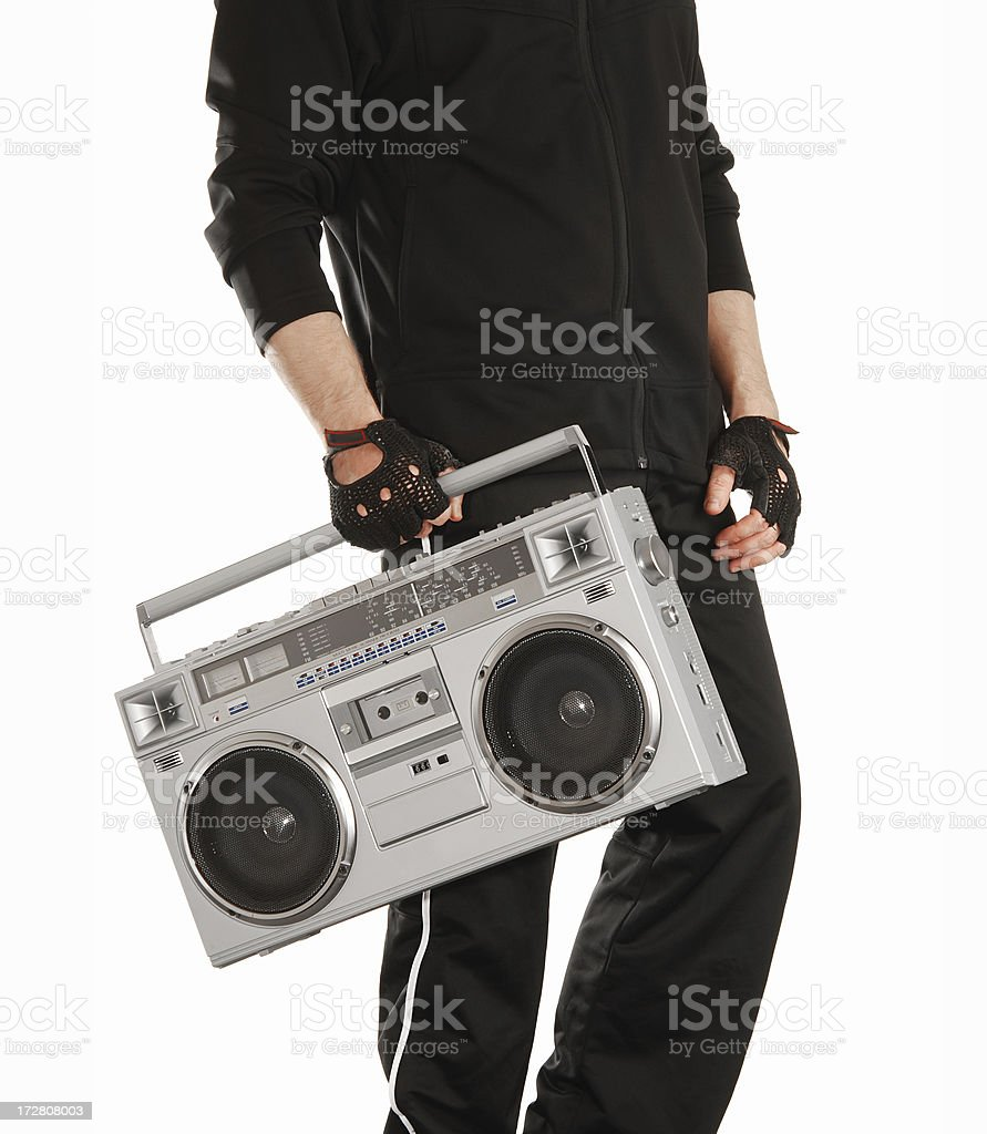 Old boombox royalty-free stock photo