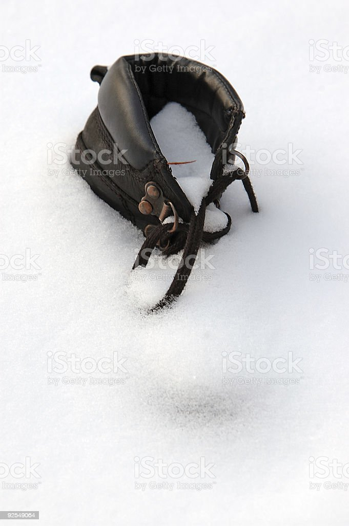 Old boot royalty-free stock photo