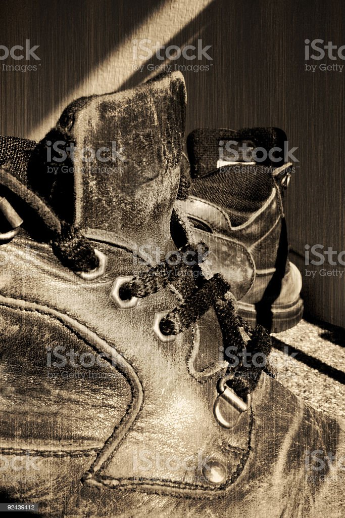Old Boots (Ellesse) stock photo