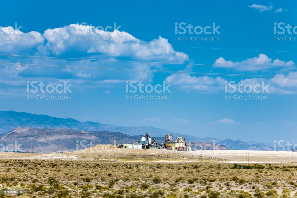 old borax factory in the desert near death valley Junction stock photo