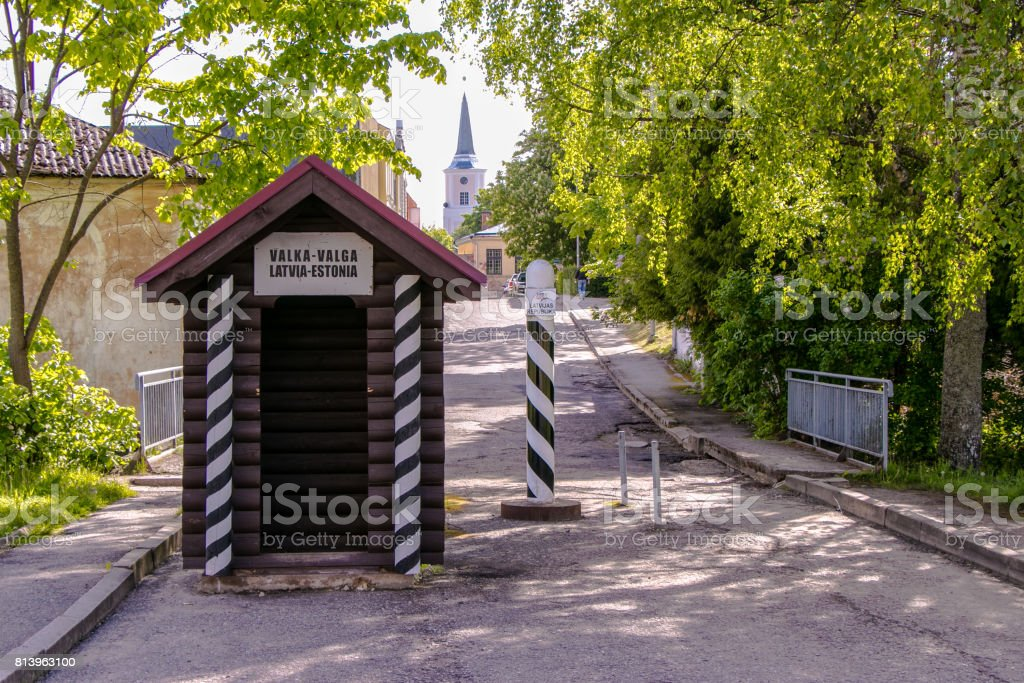 Old border stock photo