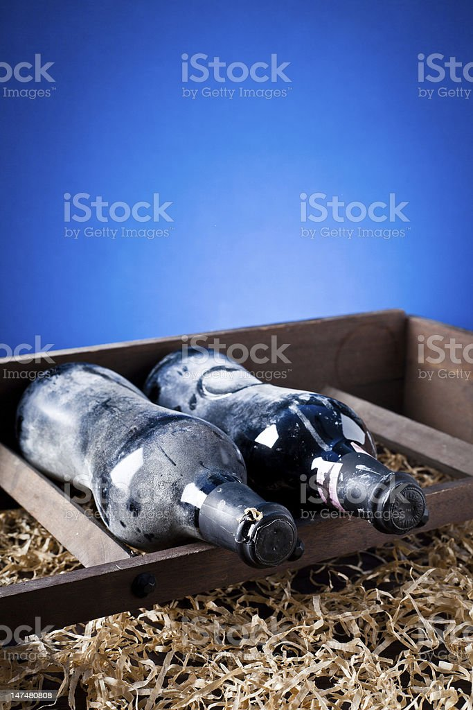 old bottle of wine royalty-free stock photo
