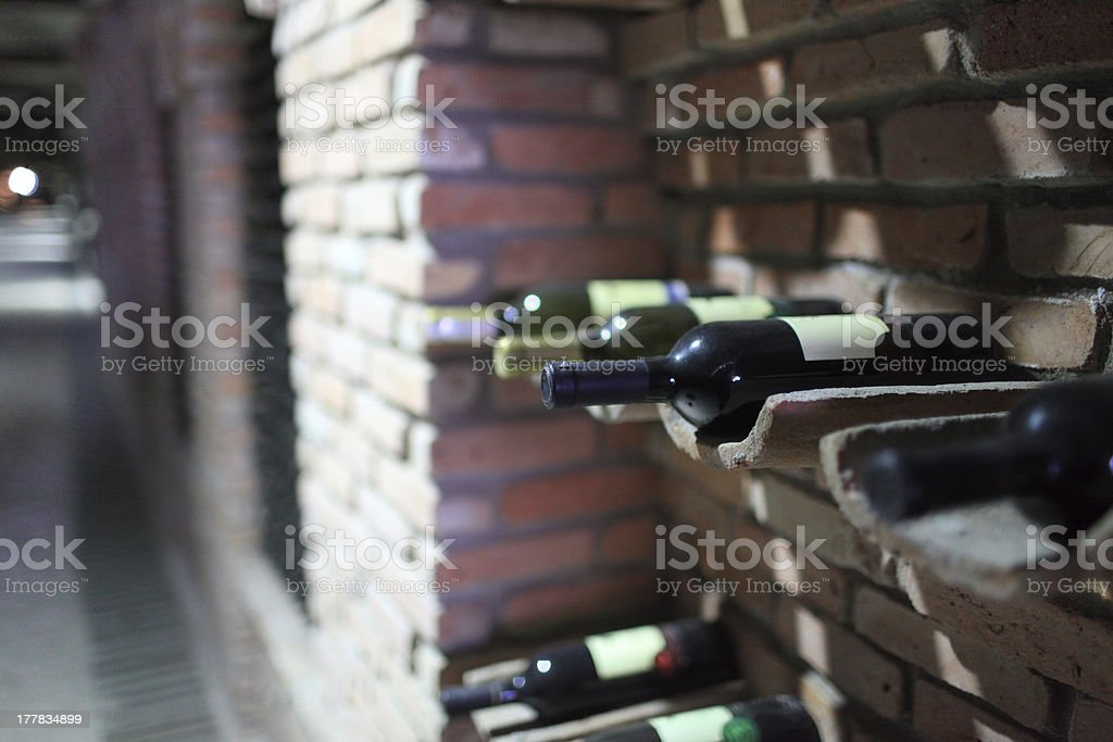 Old bottles of wine royalty-free stock photo