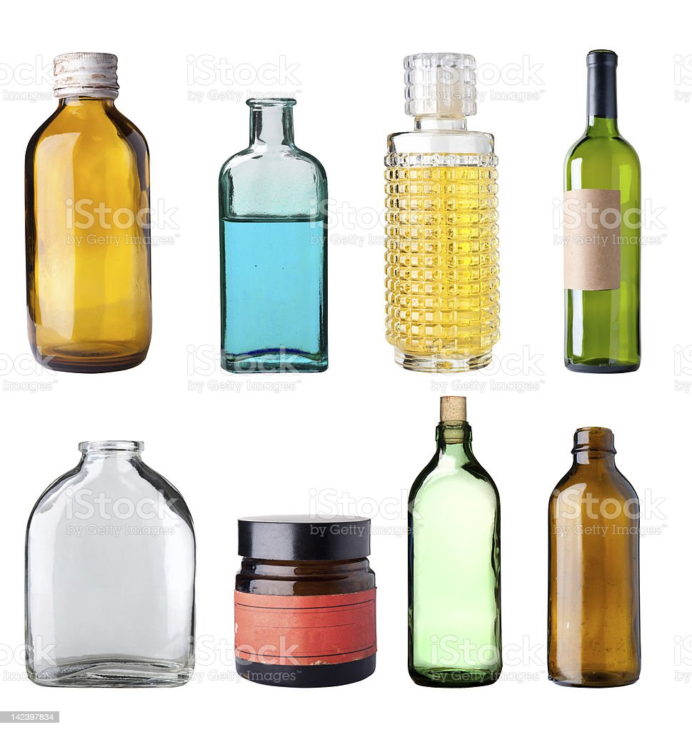Old bottles. royalty-free stock photo