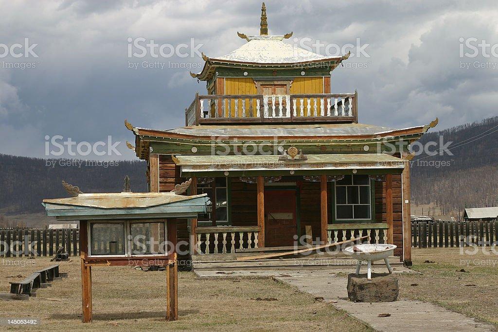 old bouddhist temple stock photo