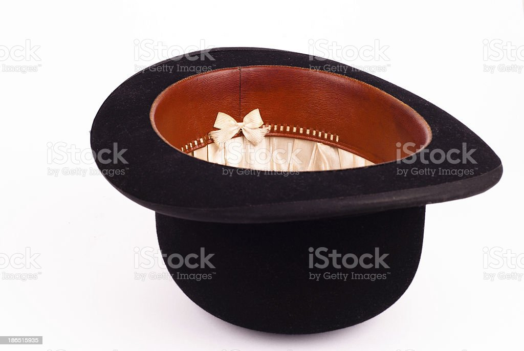 Old bowler hat stock photo