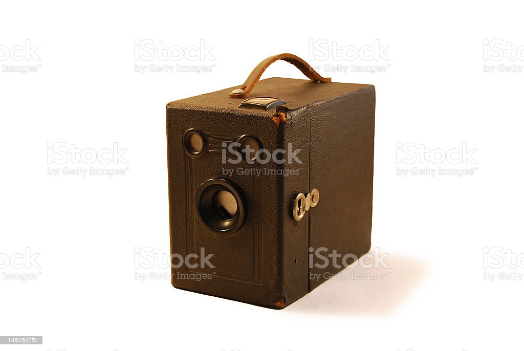 Old box camera stock photo