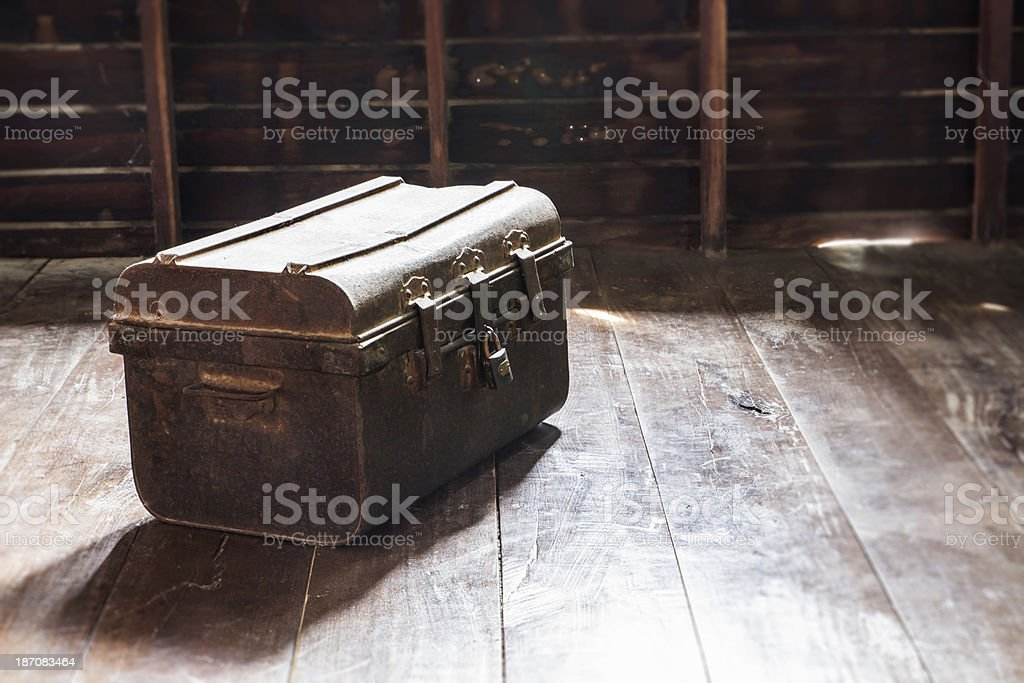 Old Box vintage royalty-free stock photo