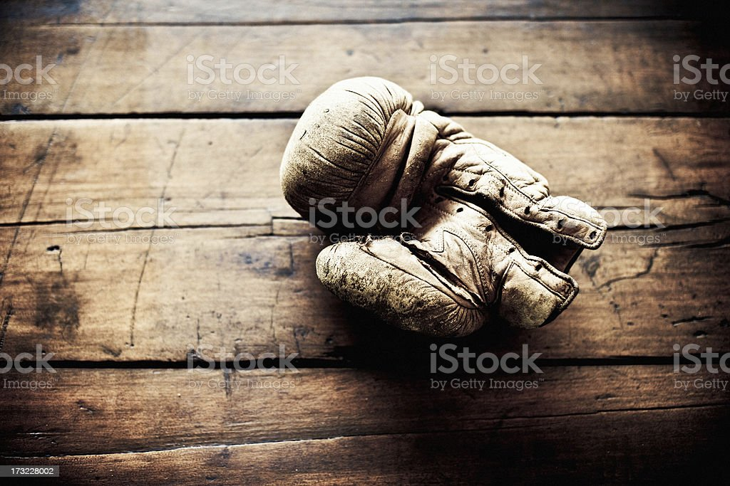 Old boxing glove royalty-free stock photo