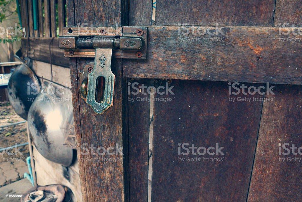 Old brass Latch royalty-free stock photo
