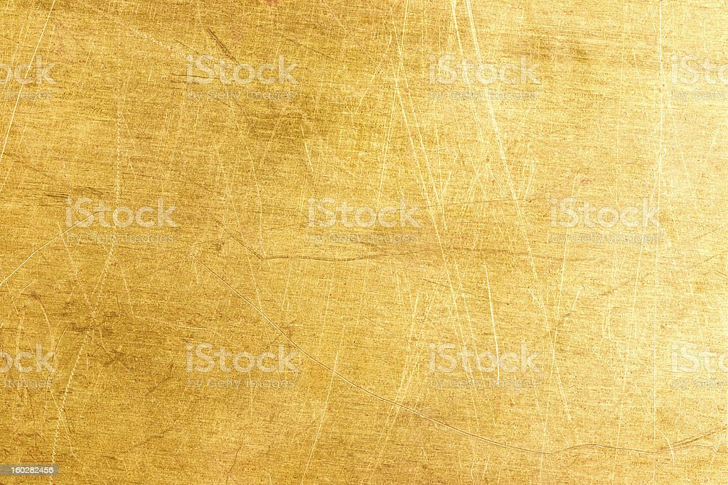 Old brass plate texture royalty-free stock photo
