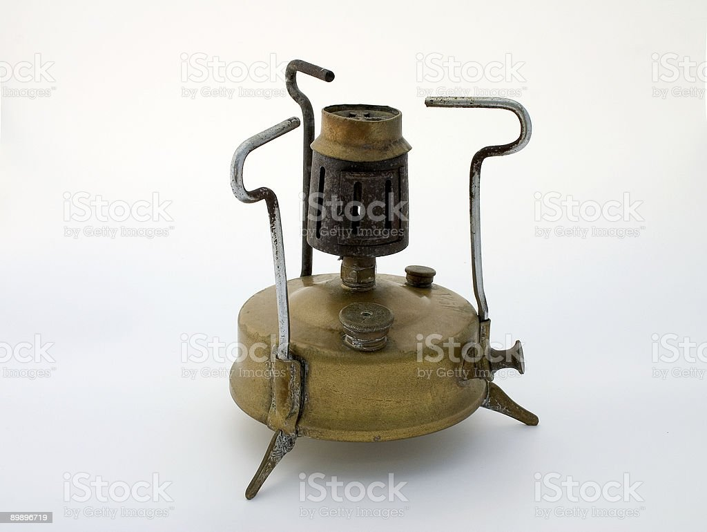 Old brass stove royalty-free stock photo