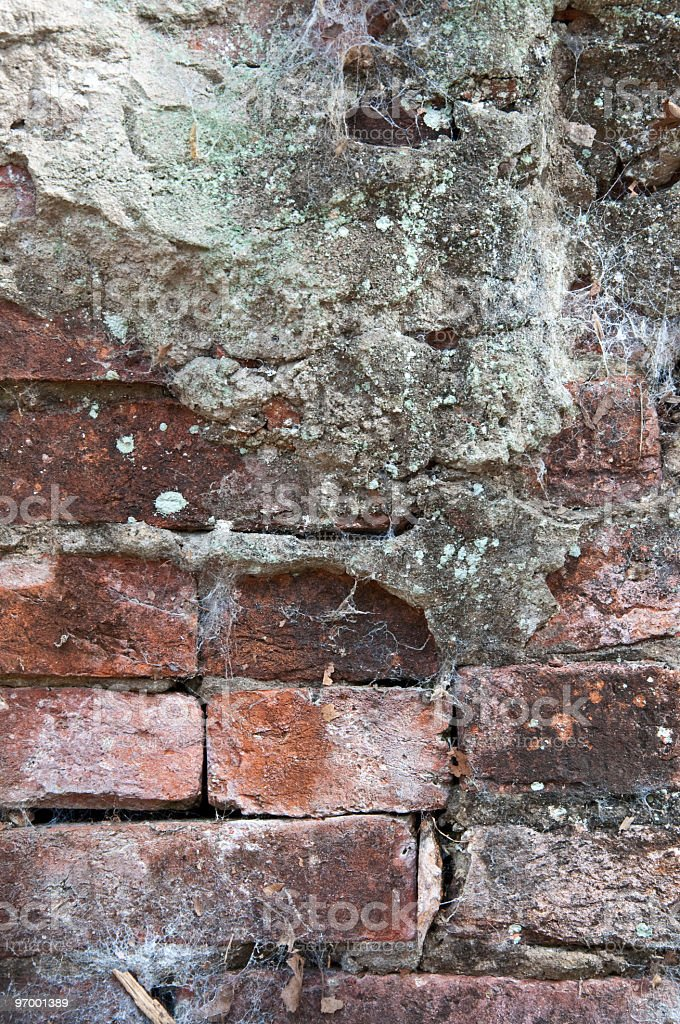 Old Brick and Concrete Wall royalty-free stock photo