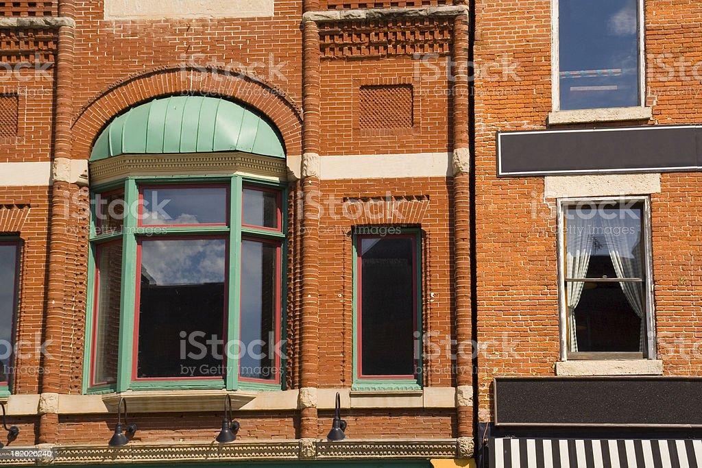 Old Brick Apartment Hz royalty-free stock photo