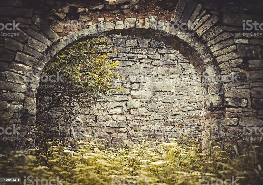 Old brick archway royalty-free stock photo