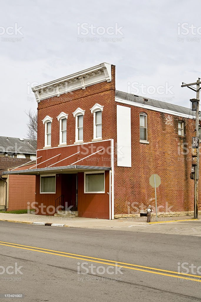 old brick building stock photo