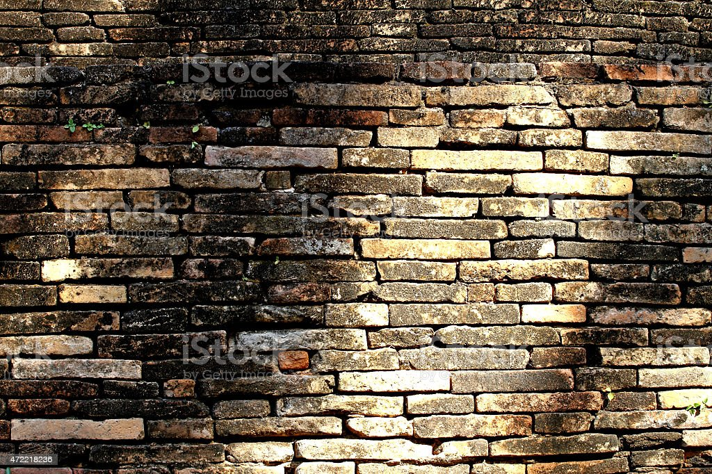 old brick building wall. stock photo