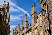 Old Brick Chimneys in Cambridge