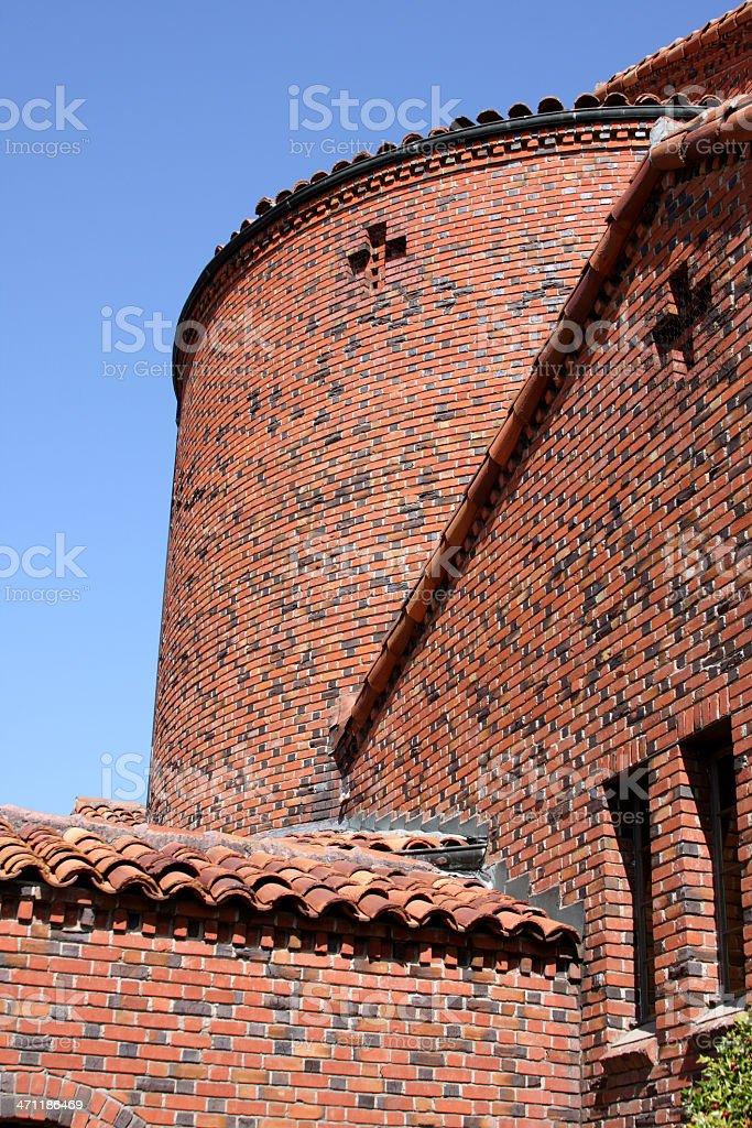 Old Brick Church Building royalty-free stock photo
