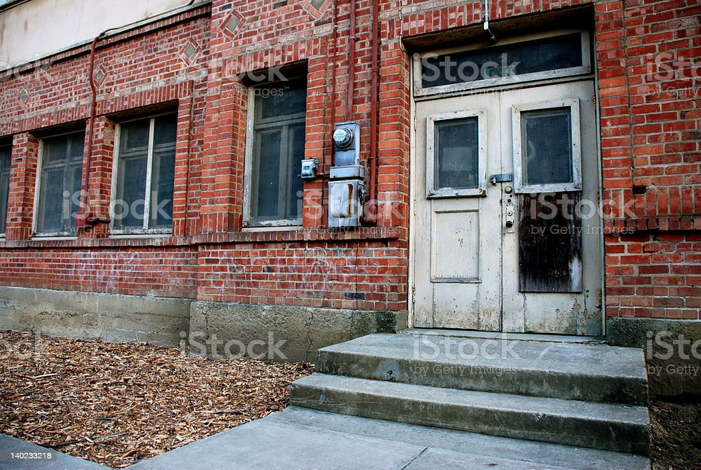 Old Brick Entrance stock photo