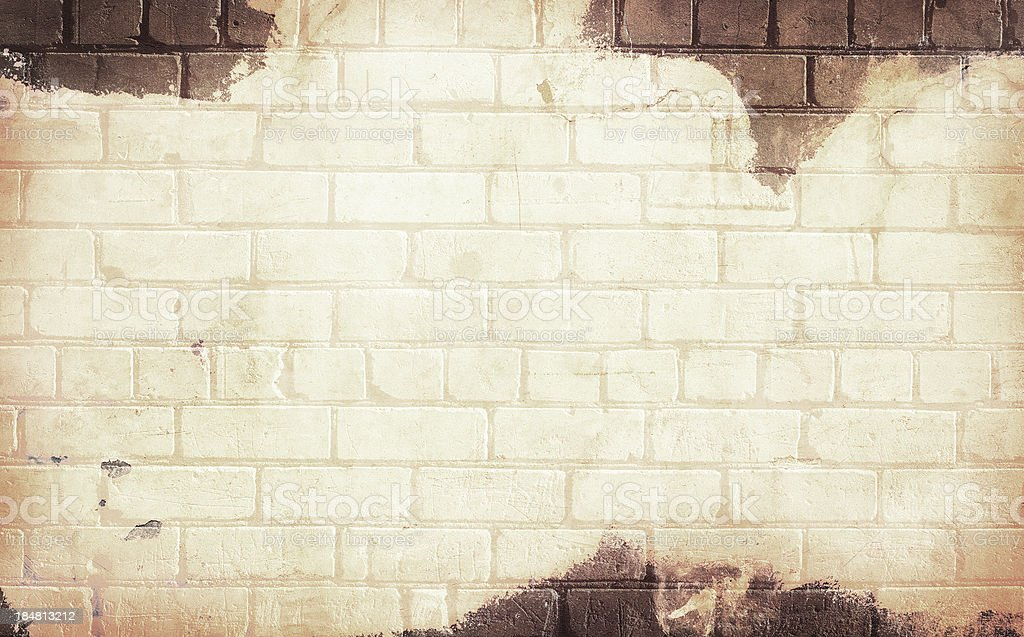 Old brick grunge wall background royalty-free stock photo