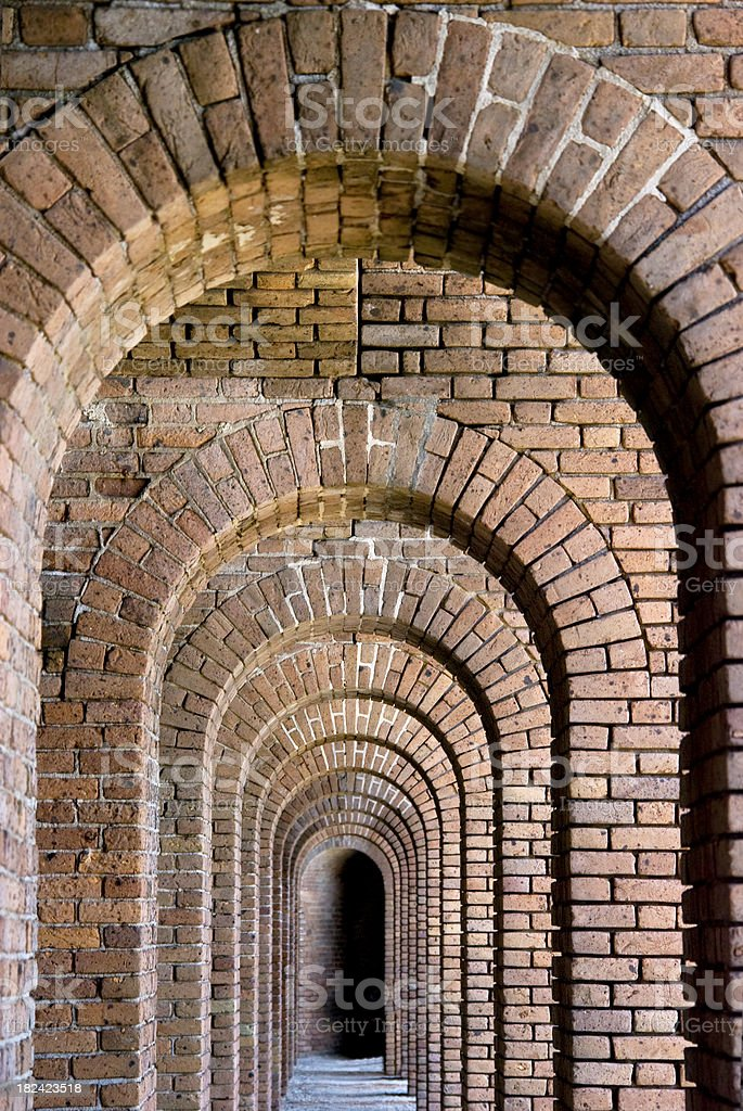 Old Brick Repeating Arches stock photo