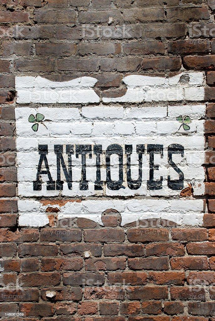 Old Brick Sign stock photo