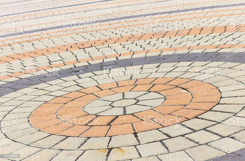 Old brick walkway texture royalty-free stock photo