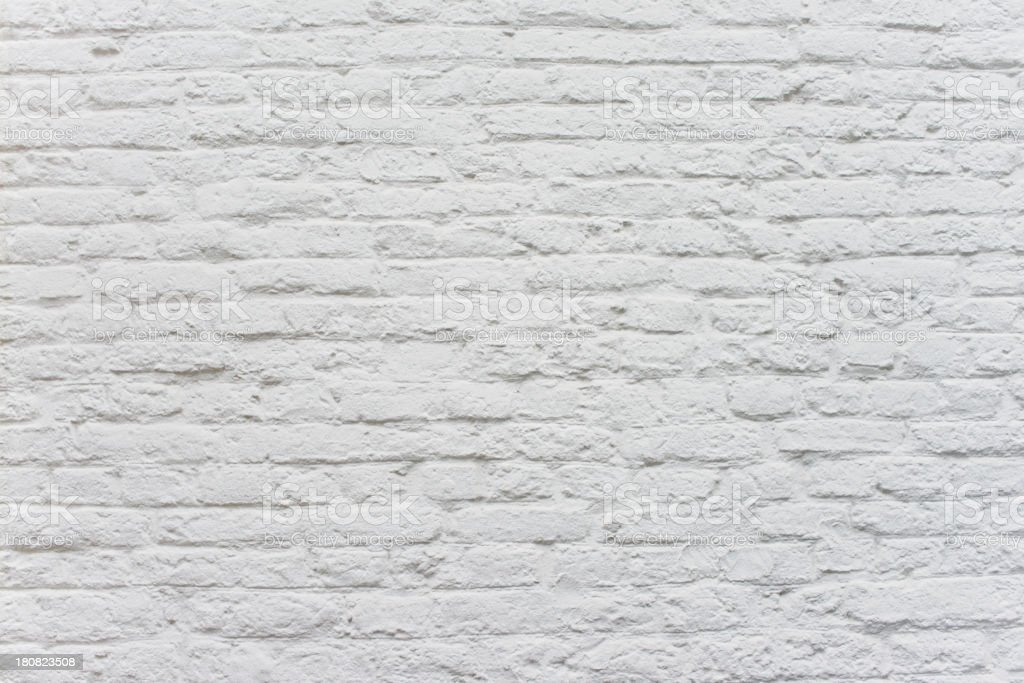 Old Brick Wall Colored White royalty-free stock photo