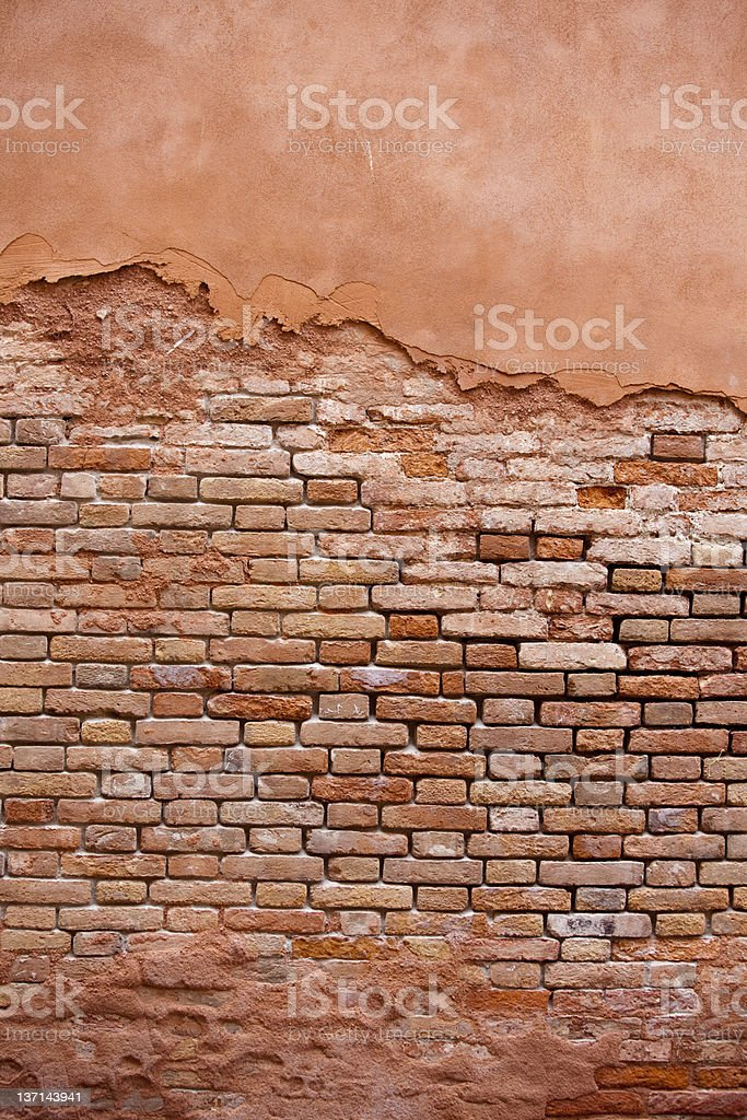 Old Brick Wall from Venice Italy as Background or Texture royalty-free stock photo