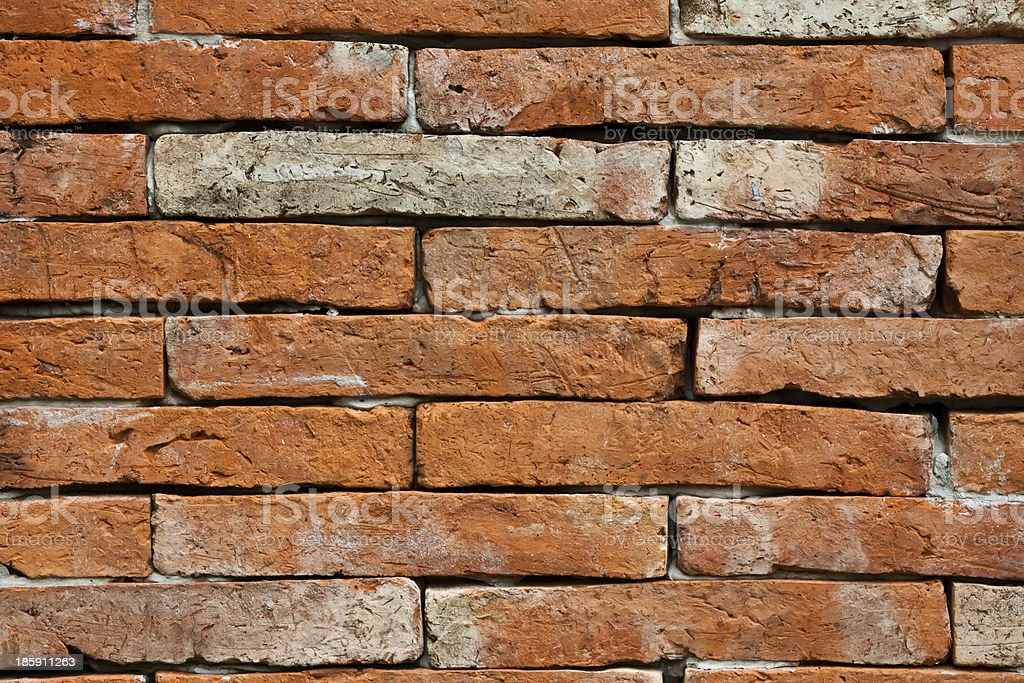 Old brick wall of ancient temple royalty-free stock photo