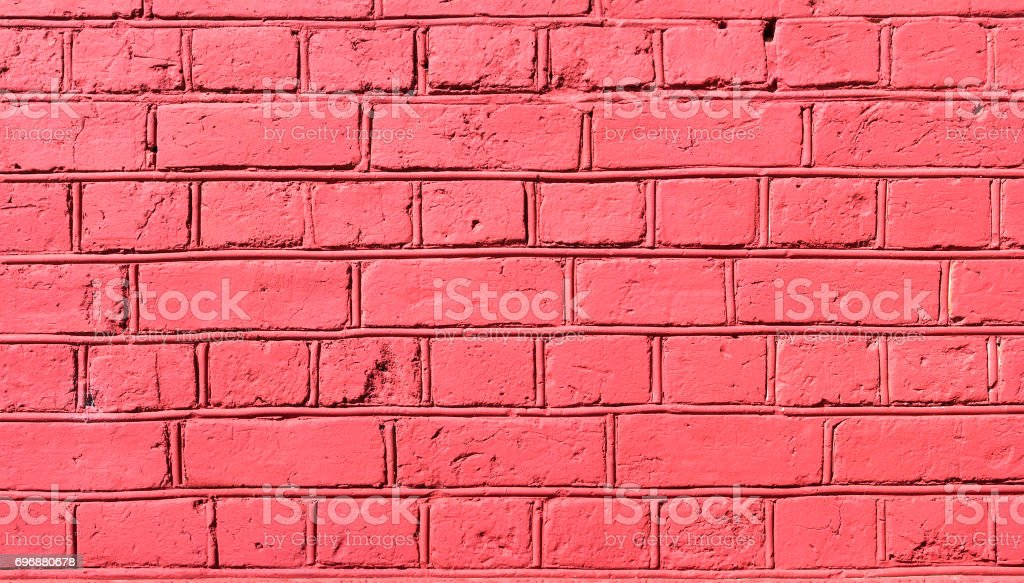 Old brick wall of pink color stock photo