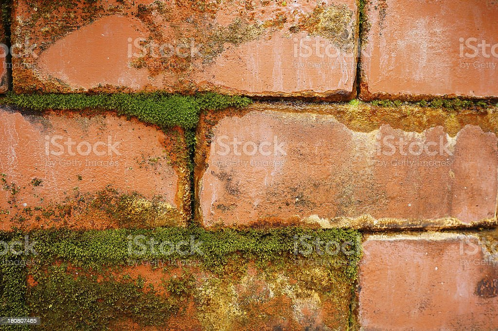 Old Brick Wall Textured royalty-free stock photo