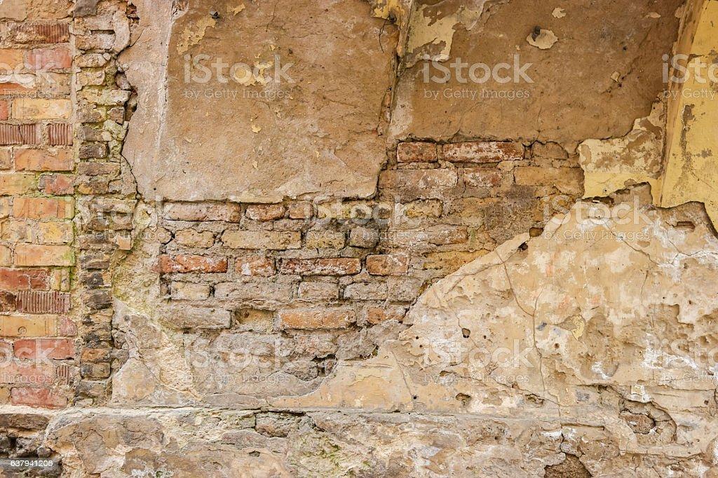 Old bricks and concrete. stock photo