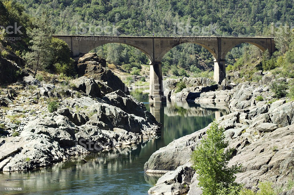 Old Bridge above American River royalty-free stock photo