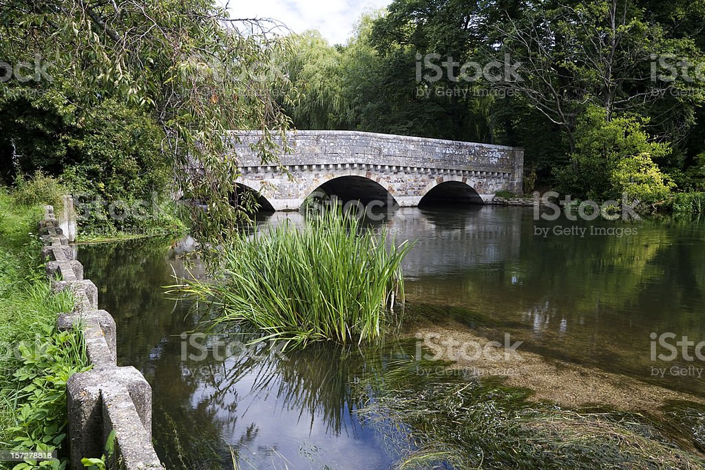 Old Bridge at Ringwood stock photo