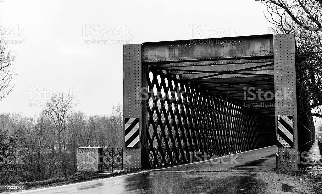 Old Bridge. Black and White royalty-free stock photo