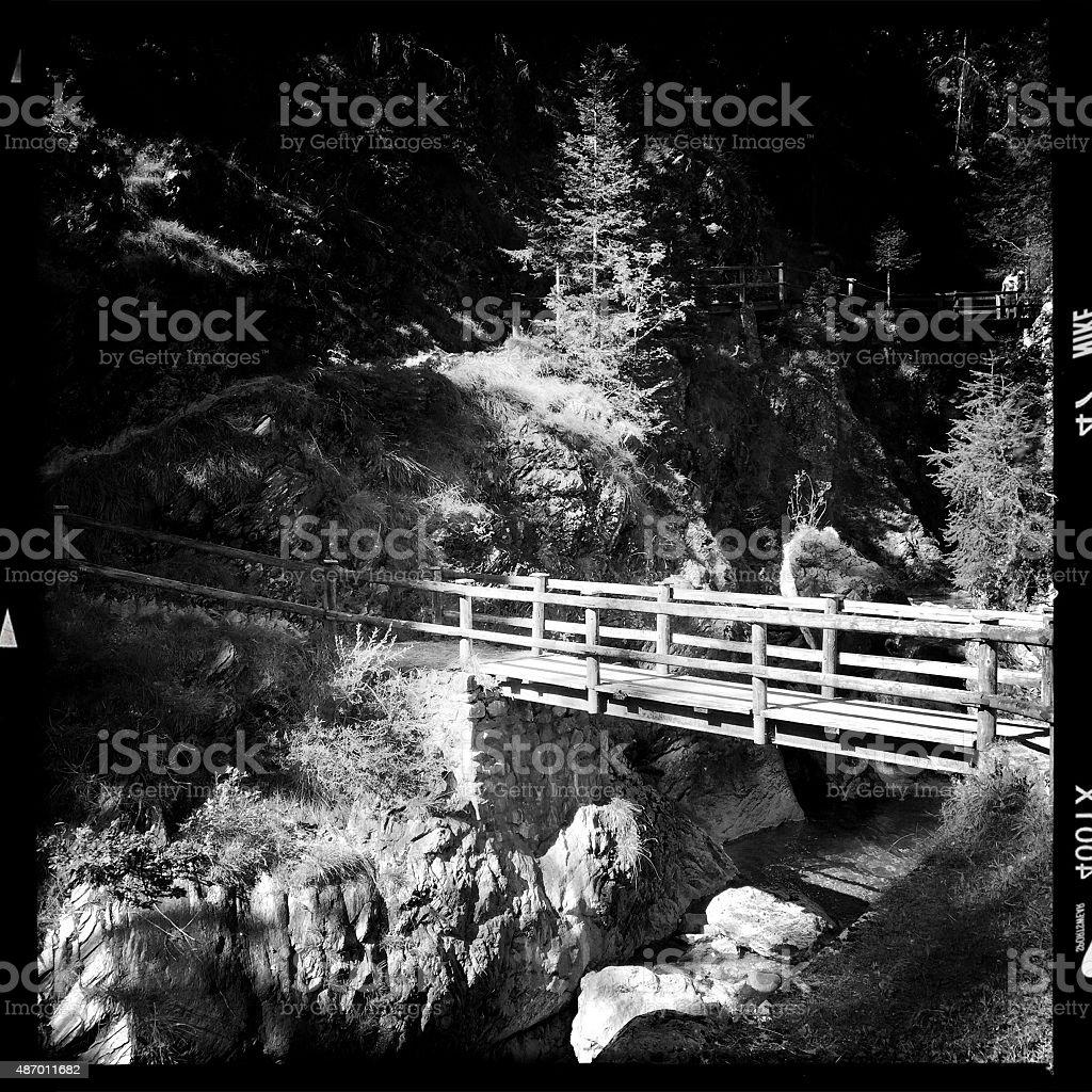 Old Bridge. Black and White stock photo