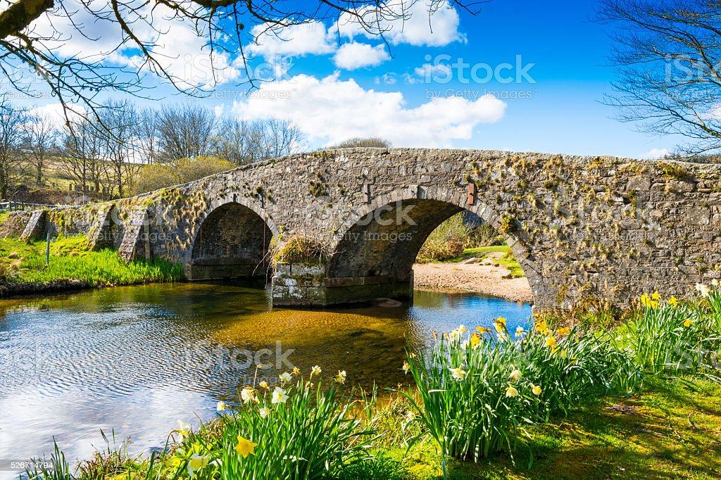 Old Bridge - Dartmoor stock photo