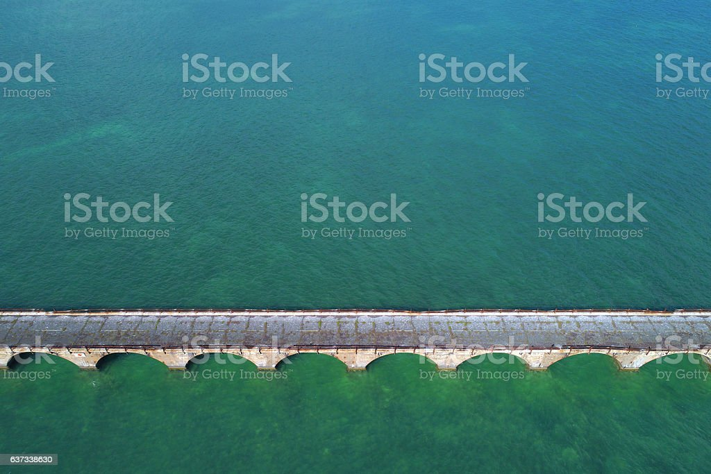 Old bridge Florida Keys stock photo